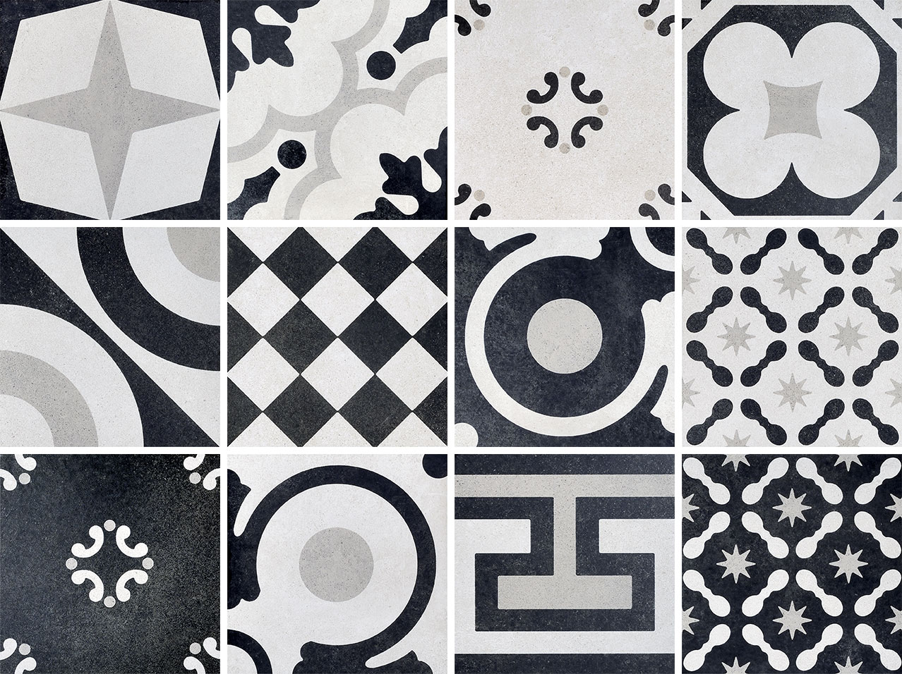 Cementine Black Amp White I Design